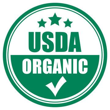 Usda organic vector icon