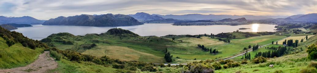 Printed roller blinds Natuur Roys Peak Track, Wanaka, New Zealand, South Island, NZ
