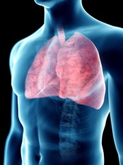 Illustration of a man's lung