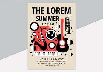 Jazz Music Festival Flyer Layout