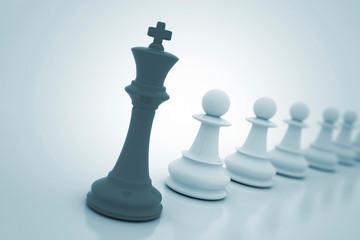 Chess king leadership concept, illustration