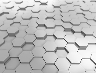 Hexagon pattern 3d background, illustration
