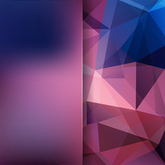 Abstract polygonal vector background. Geometric vector illustration. Creative design template. Abstract vector background for use in design. Purple, blue colors.