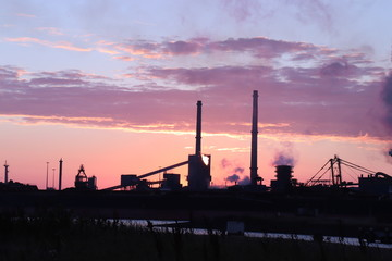 An industrial sunset