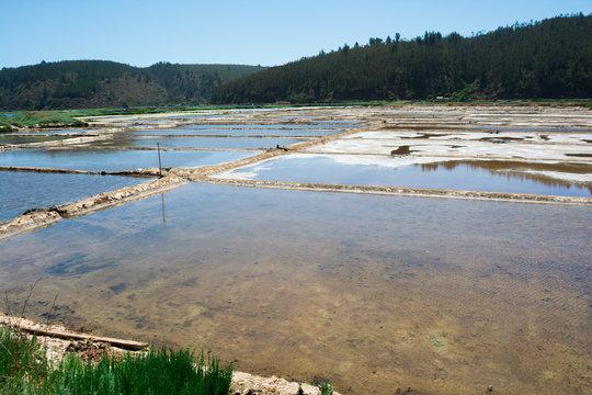 Salinas de Barrancas en Chile central región de O´Higgins