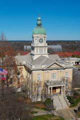 View on Athens, GA city hall and downtown