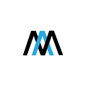 letter AM logo vector