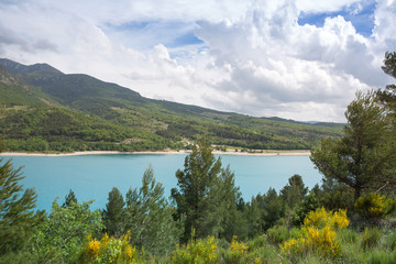 Lake Verdon in the mountains in France