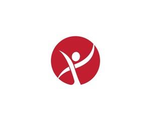 Healthy life logo template vector icon illustration
