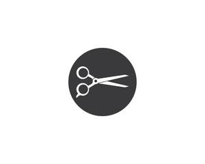 Scissors Logo Icon template vector illustration