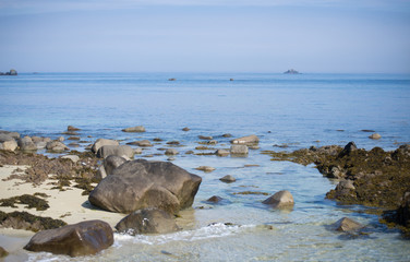 Littoral baie des 7 îles Perros Guirec Côtes d'Armor Bretagne France