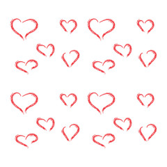Set of hearts. Vector heart shapes. Vector illustration. Hand drawn hearts. Design elements for Valentine's day.