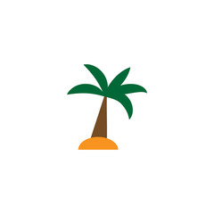 Vector illustration. Simple cartoon palm. Palm icon.