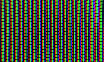 TV pixels closeup. Macro screen pixel.