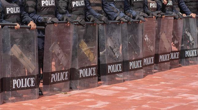 Police riot training