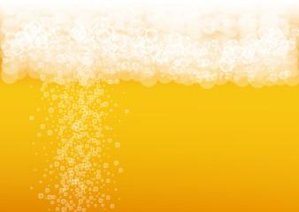 Craft beer background. Lager splash. Oktoberfest foam.