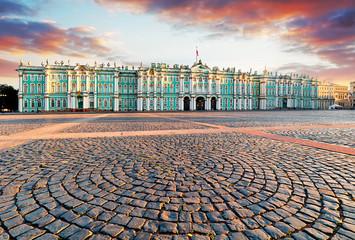 View of Saint Petersburg. Panorama of Winter Palace Square, Hermitage - Russia
