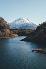 精進湖から見た富士山 Mountain Fuji in Japan