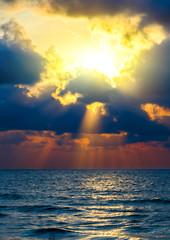 Sunrise sea paradise