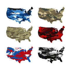 usa map camouflage