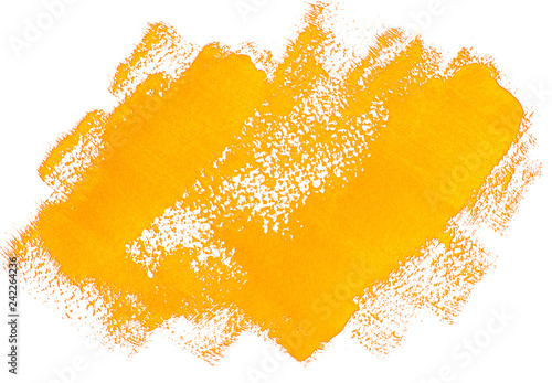 Yellow grunge banner  Handpainted acrylic brush strokes