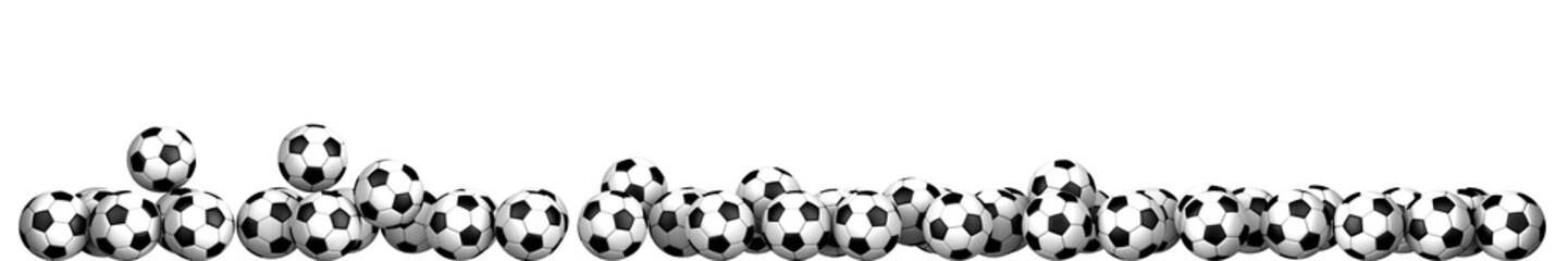 soccer balloon frame on a white background