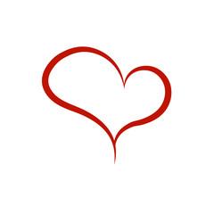 Heart brush icon