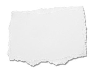 white paper ripped message torn