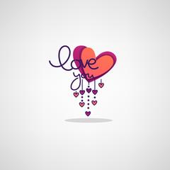 Love Lettering Logo, Lebel, Emblem in Boho Doodle Style
