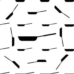 Kitchen Pan Icon Seamless Pattern