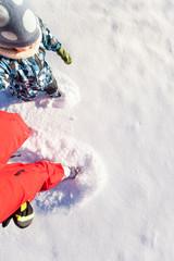 Spaziergang im Schnee. Walking in snow.