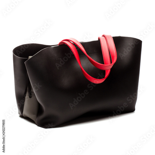 afad3f40 Black Women's handbag, Ladies bag, Black female clutch,Black clutch.Women's  bag isolated white background.Bag isolated white background.