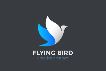 Wall Mural - Flying Bird Logo design vector. Eagle Falcon Dove concept icon