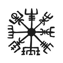 Vegvisir Viking Symbol Compass Rune