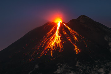 Obraz Volcano Etna eruption - fototapety do salonu