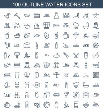 100 water icons