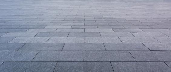 Grey brick stone street road. Light sidewalk, pavement texture Fototapete