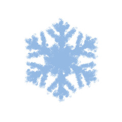 Grunge Isolated Snowflake