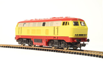 model train isolated on white