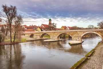 Cityscape of Regensburg town