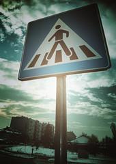Traffic sign, winter