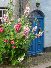 Haustür in einer Altstadtgasse von Flensburg