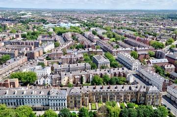 Bird's-eye View of Urban Homes