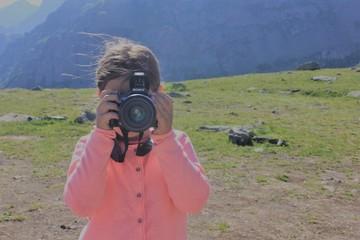 camera and girl
