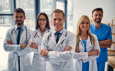 Group of doctors in clinic