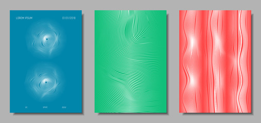 Abstract Backgrounds with Wave Lines.