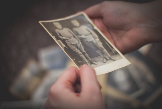 Watching old photos