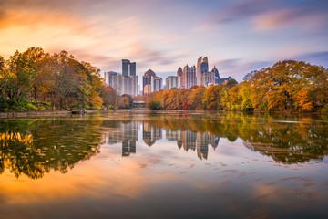 Fotomurales - Atlanta, Georgia, USA Piedmont Park skyline in autumn
