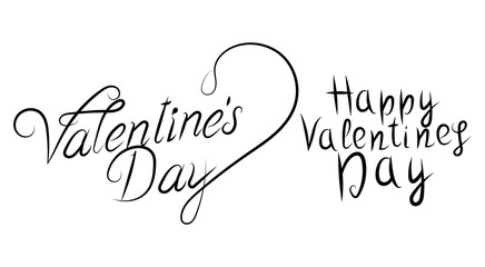 Inscription. Holiday Valentine's day.