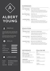 Clean Resume Templates - gray
